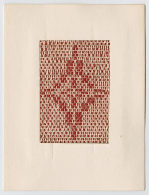 Primary view of object titled '[Woven Christmas card]'.