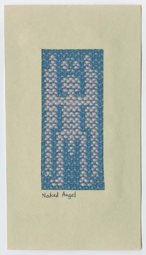 Primary view of object titled '[Woven angel card]'.
