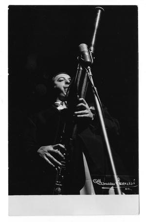 Primary view of object titled '[Photograph of Unidentified Bassoon Player]'.