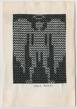 Primary view of object titled '[Woven male angel Christmas card]'.