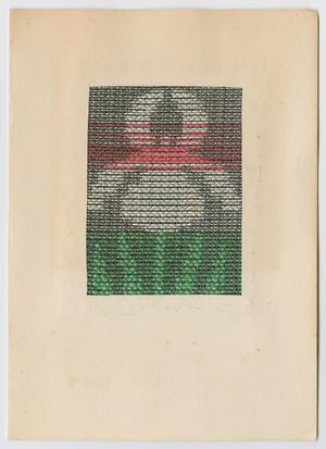 Primary view of object titled '[Woven iris greeting card]'.