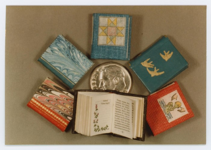 Photograph of miniature books from the Borrower's Press