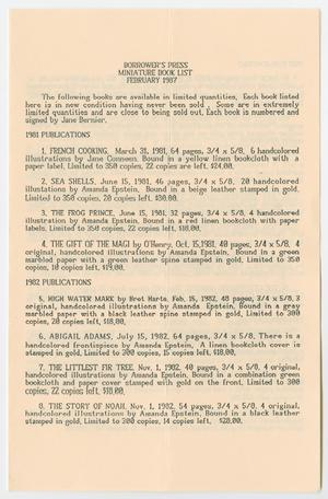 [Brochure from the Borrower's Press]