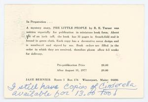 [Postcard from the Borrower's Press]
