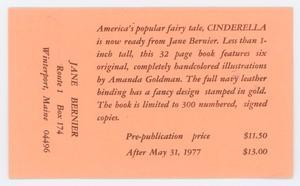 [Postcard from Jane Bernier to Elizabeth Roden]