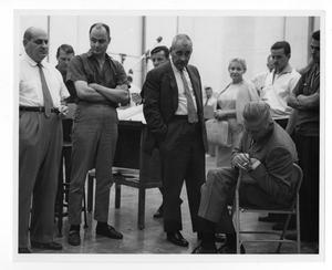 Primary view of object titled '[Photograph of Stan Kenton and Lee Gillette]'.