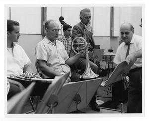 Primary view of object titled '[Photograph of Stan Kenton and Johnny Richards]'.
