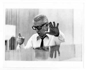 Primary view of object titled '[Photograph of Stan Kenton Conducting]'.