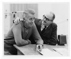 Primary view of object titled '[Photograph of Stan Kenton and Gene Roland]'.