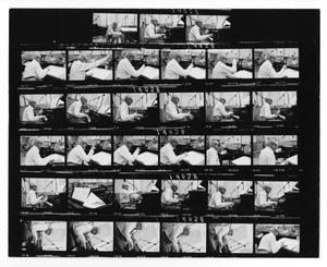 Primary view of object titled '[Sheet of Stan Kenton and Orchestra Photographs]'.