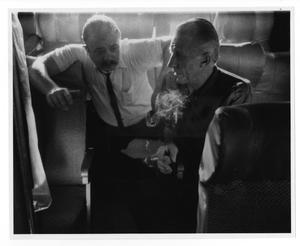 Primary view of object titled '[Photograph of Stan Kenton and Dee Barton]'.