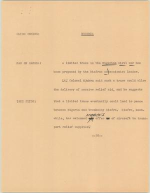 Primary view of object titled '[News Script: Nigeria]'.
