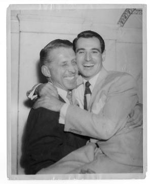 Primary view of object titled '[Photograph of Stan Kenton and Ray Anthony]'.