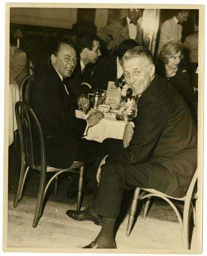 Primary view of object titled '[Photograph of Stan Kenton and Woody Herman]'.