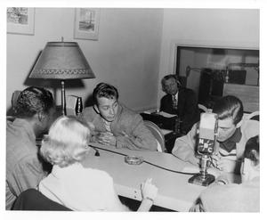 Primary view of object titled '[Photograph of Stan Kenton, Nat King Cole and Mel Torme]'.