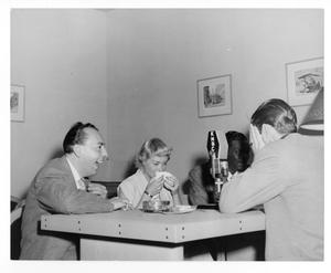 Primary view of object titled '[Photograph of Nat King Cole, June Christy and Woody Herman]'.