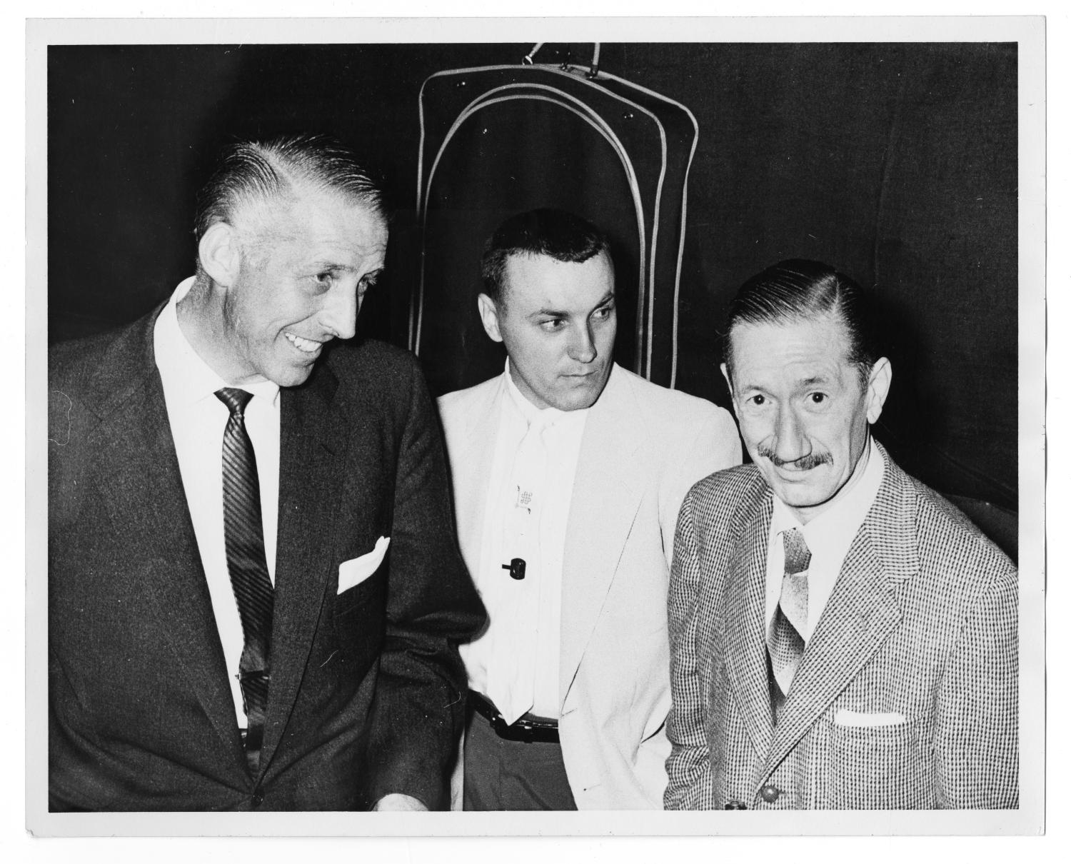 "[Photograph of Stan Kenton and ""Pee Wee"" Russell]                                                                                                      [Sequence #]: 1 of 2"