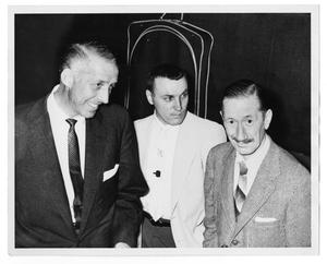 "Primary view of object titled '[Photograph of Stan Kenton and ""Pee Wee"" Russell]'."