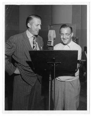 Primary view of object titled '[Photograph of Stan Kenton and Benny Goodman]'.