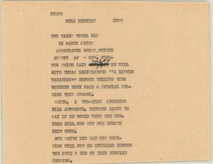 Primary view of object titled '[News Script: Government]'.