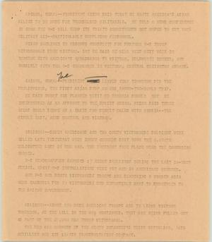Primary view of object titled '[News Script: Americans in Asia]'.