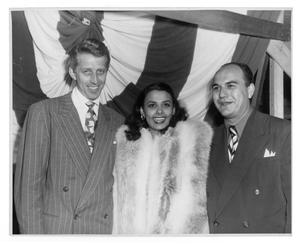 Primary view of object titled '[Photograph of Stan Kenton and Lena Horne]'.