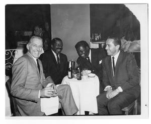 Primary view of object titled '[Photograph of Stan Kenton, Erroll Garner and Oscar Peterson]'.