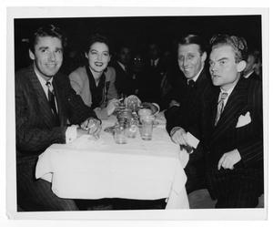 Primary view of object titled '[Photograph of Ava Gardner, Stan Kenton, Peter Lawford and Spike Jones]'.