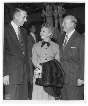 Primary view of object titled '[Photograph of Stan Kenton, June Hutton and Axel Stordahl]'.