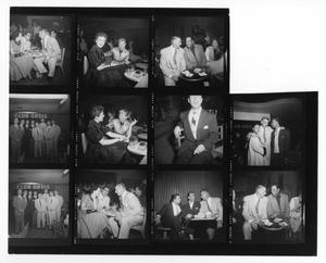 Primary view of object titled '[Sheet of Photographs of Stan Kenton, Pete Rugolo and Duke Ellington]'.