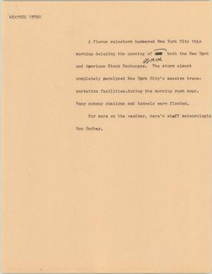 Primary view of object titled '[News Script: Weather Intro]'.
