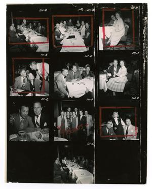 Primary view of object titled '[Sheet of Photographs of Stan Kenton, Johnny Mercer, Pete Rugolo, June Christy and Vido Musso]'.
