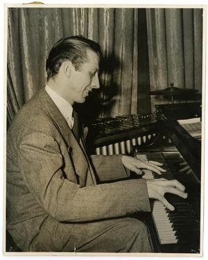 Primary view of object titled '[Photograph of Stan Kenton at Piano]'.