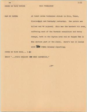 Primary view of object titled '[News Script: Ohio Tornadoes]'.
