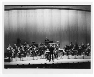 "Primary view of object titled '[Photograph of Stan Kenton and ""Neophonic"" Orchestra]'."