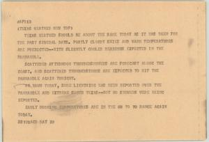Primary view of object titled '[News Script: Texas weather new top]'.