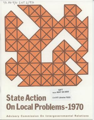 Primary view of object titled 'State action on local problems - 1970'.