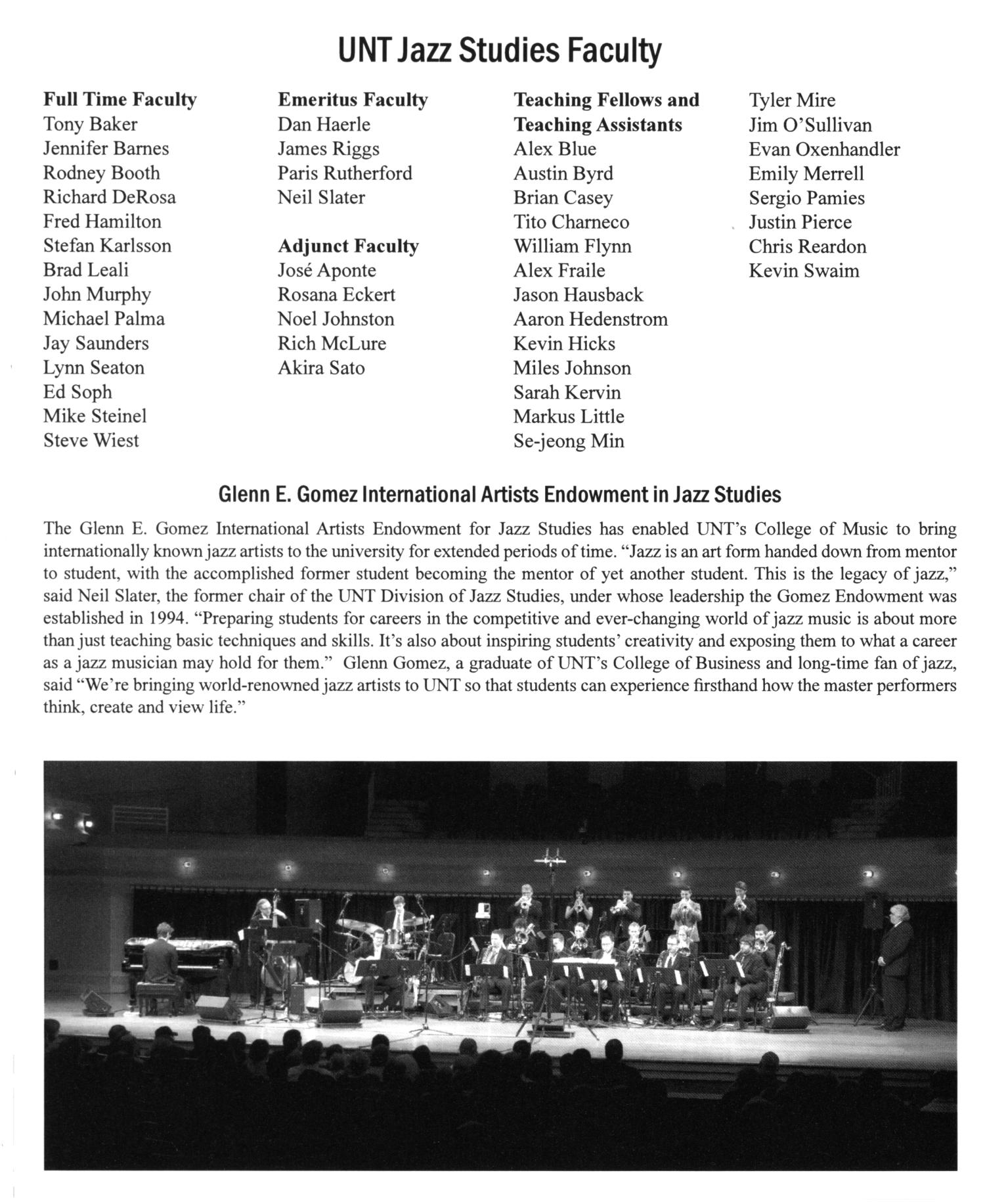 College of Music Program Book 2011-2012: Ensemble & Other Performances, Volume 3                                                                                                      10