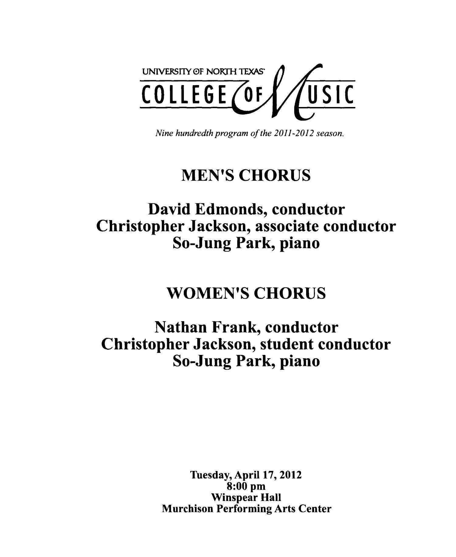 College of Music Program Book 2011-2012: Ensemble & Other Performances, Volume 3                                                                                                      330