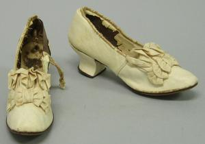 Primary view of object titled 'Wedding Slippers'.