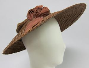 Primary view of object titled 'Cartwheel Hat'.