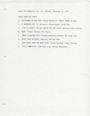 Primary view of object titled 'Hand-Written Program Lists, 1981-1982'.