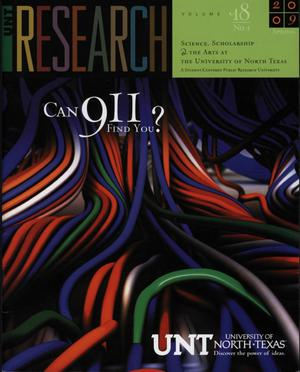 Primary view of object titled 'UNT Research, Volume 18, 2009'.