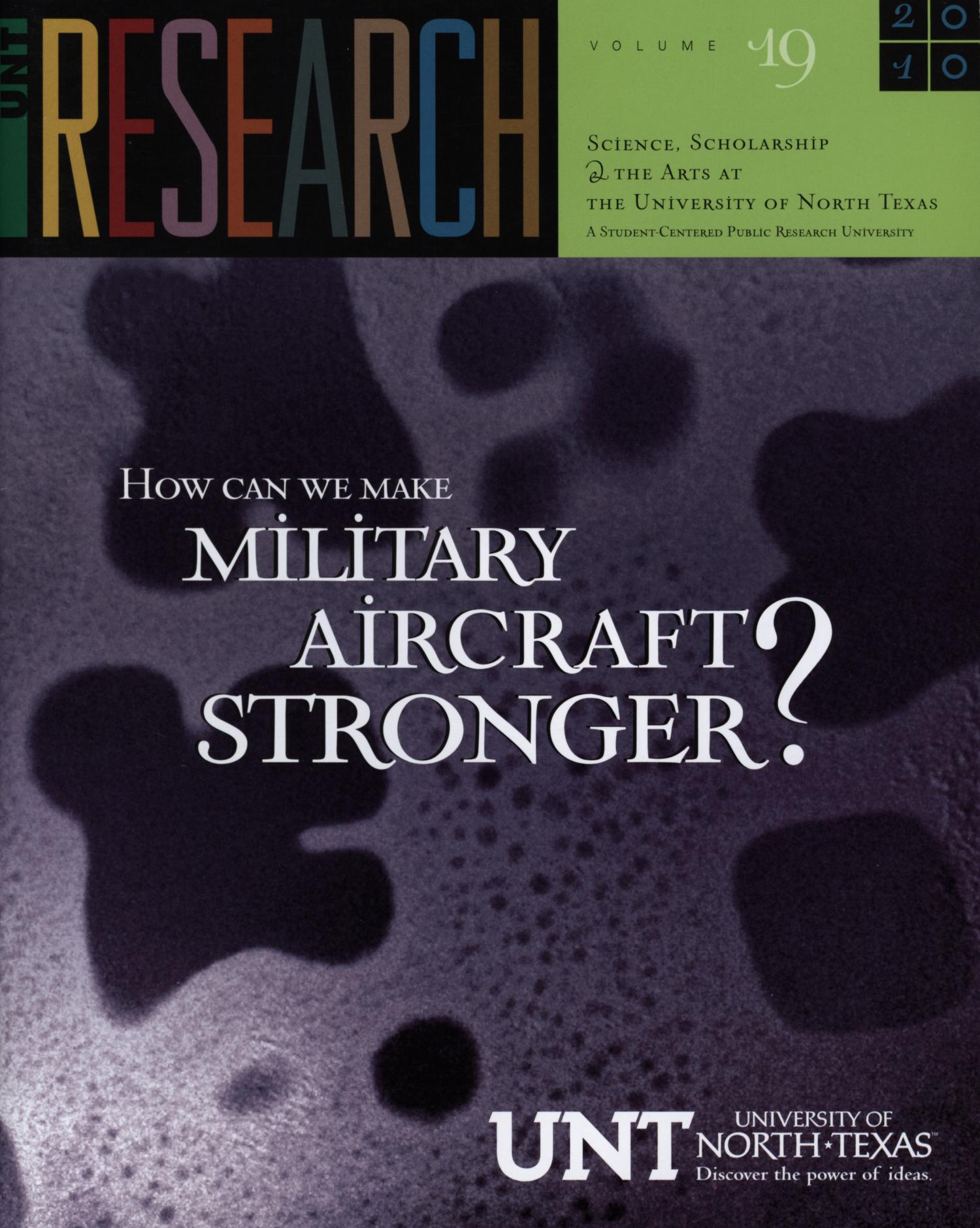 UNT Research, Volume 19, 2010                                                                                                      Front Cover