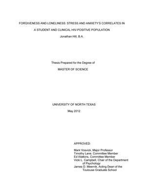forgiveness hiv thesis