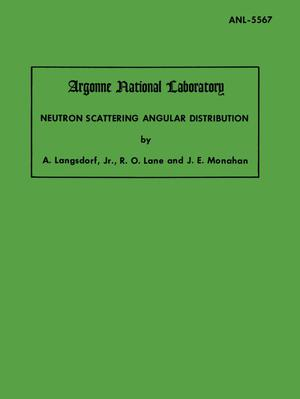 Neutron Scattering Angular Distribution