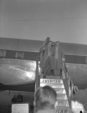 Primary view of [Bob Hope Exiting a Plane]
