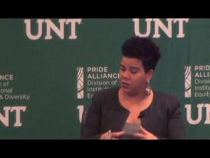 Primary view of 2018 UNT Equity and Diversity Conference – Rosa Clemente (Keynote, Senate Room Panel)
