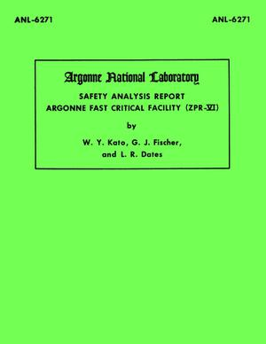 Safety Analysis Report, Argonne Fast Critical Facility (ZPR-VI)
