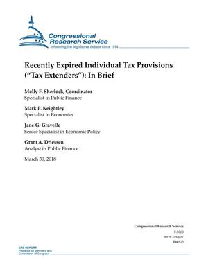 "Primary view of object titled 'Recently Expired Individual Tax Provisions (Tax Extenders""): In Brief'."